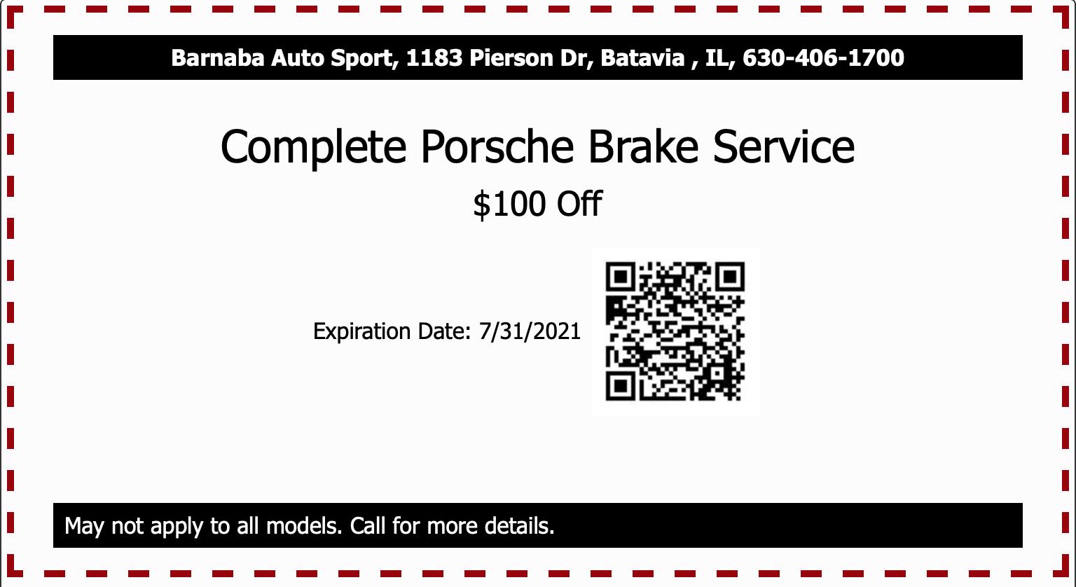 Complete Porsche Brake Service